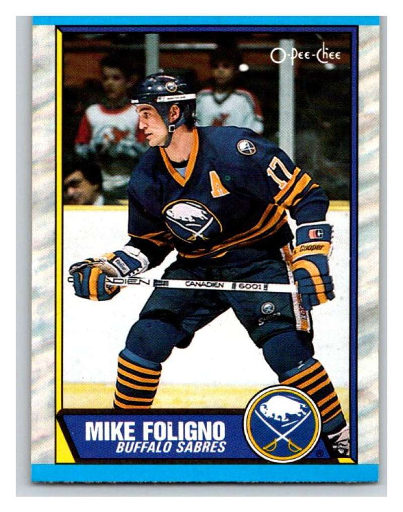(HCW) 1989-90 O-Pee-Chee #78 Mike Foligno Sabres NHL Hockey