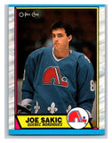 (HCW) 1989-90 O-Pee-Chee #113 Joe Sakic RC Rookie Nordiques NHL Hockey