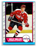 (HCW) 1989-90 O-Pee-Chee #131 Kelly Miller Capitals NHL Hockey
