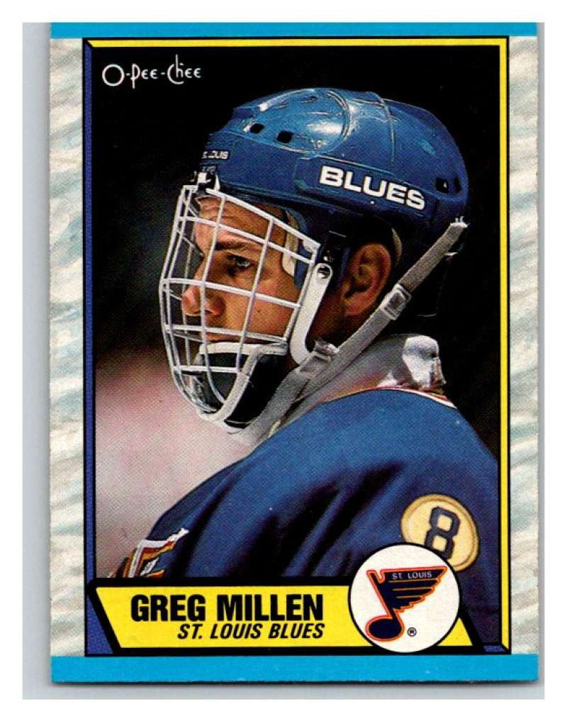 (HCW) 1989-90 O-Pee-Chee #137 Greg Millen Blues NHL Hockey