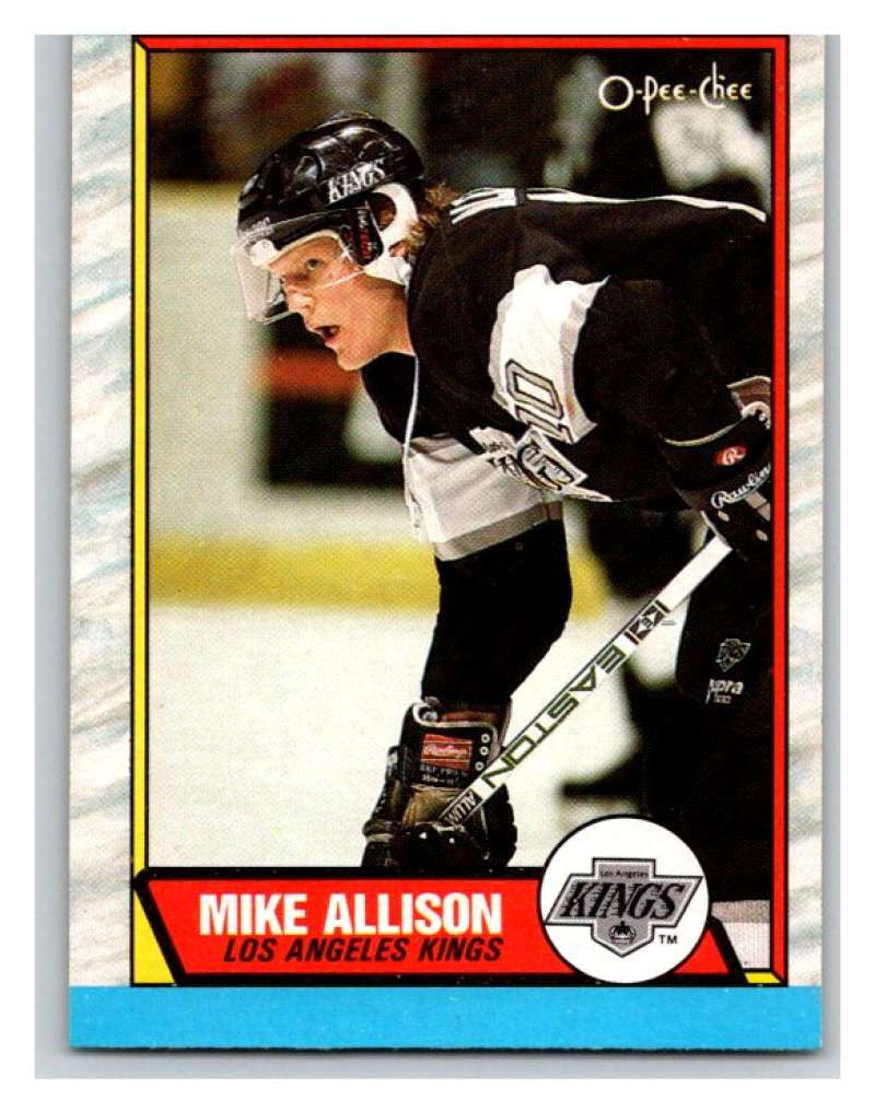 (HCW) 1989-90 O-Pee-Chee #141 Mike Allison Kings NHL Hockey
