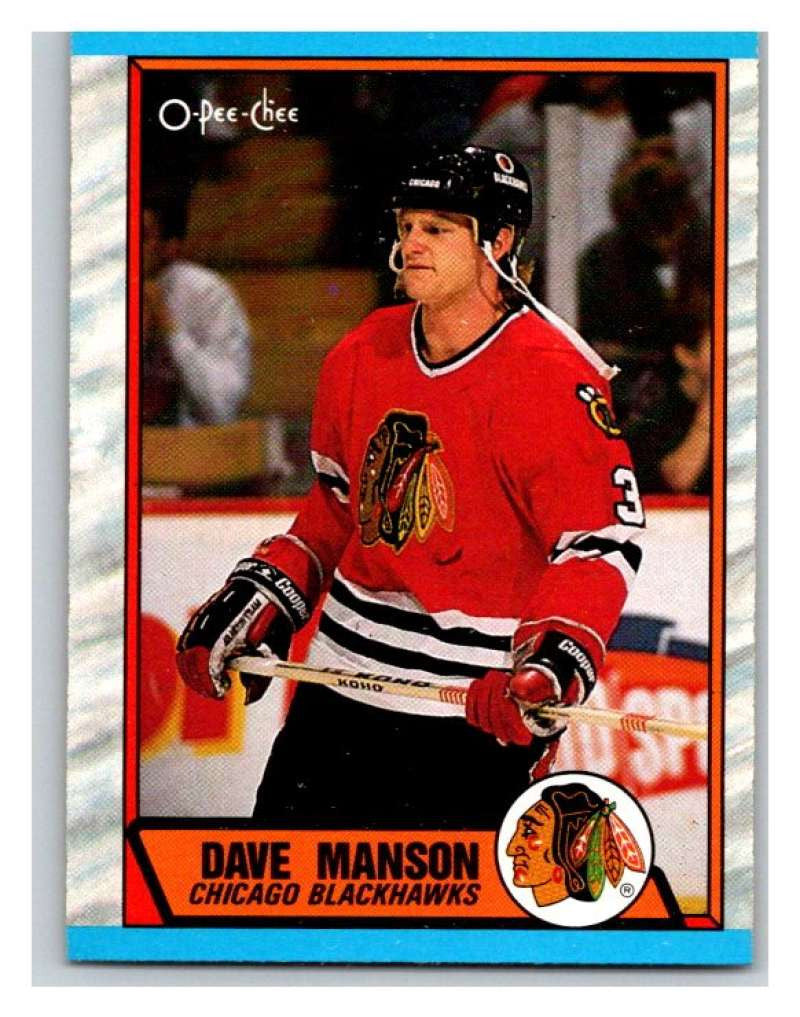 (HCW) 1989-90 O-Pee-Chee #150 Dave Manson RC Rookie Blackhawks NHL Hockey