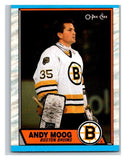 (HCW) 1989-90 O-Pee-Chee #160 Andy Moog Bruins NHL Hockey