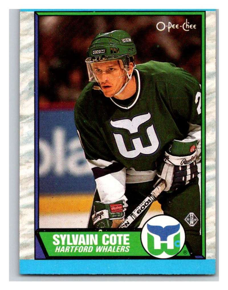 (HCW) 1989-90 O-Pee-Chee #162 Sylvain Cote RC Rookie Whalers NHL Hockey