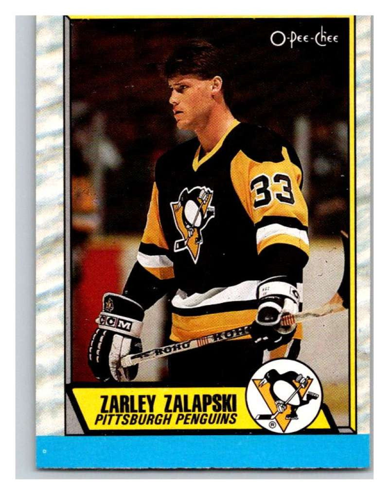 (HCW) 1989-90 O-Pee-Chee #168 Zarley Zalapski RC Rookie Penguins NHL Hockey