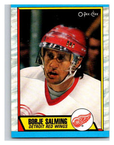 (HCW) 1989-90 O-Pee-Chee #278 Borje Salming Red Wings NHL Hockey