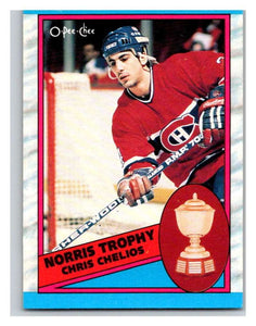 (HCW) 1989-90 O-Pee-Chee #323 Chris Chelios Canadiens NHL Hockey