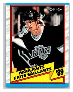(HCW) 1989-90 O-Pee-Chee #325 Wayne Gretzky Kings HL NHL Hockey