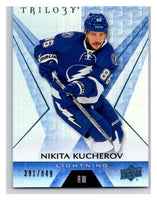 (HCW) 2016-17 Upper Deck Trilogy Blue Rainbow Foil #29 Nikita Kucherov SER/849