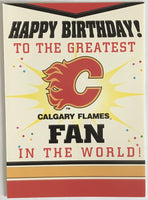 (HCW) Calgary Flames Birthday Card with Envelope 5