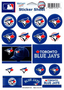 "(HCW) Toronto Blue Jays Vinyl Sticker Sheet 5""x7"" Decals MLB Licensed Authentic"