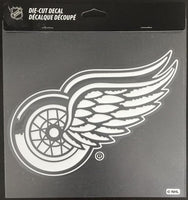 (HCW) Detroit Red Wings Perfect Cut White 8x8 Large Licensed Decal Sticker