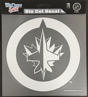 (HCW) Winnipeg Jets Perfect Cut White 8x8 Large Licensed Decal Sticker