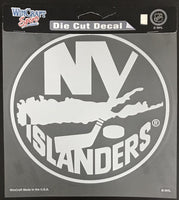 (HCW) New York Islanders Perfect Cut White 8x8 Large Licensed Decal Sticker