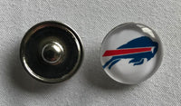 (HCW) Buffalo Bills NFL Snap Ginger Button Jewelry for Jackets, Bracelets