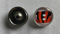 (HCW) Cincinnati Bengals NFL Snap Ginger Button Jewelry for Jackets, Bracelets