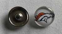 (HCW) Denver Broncos NFL Snap Ginger Button Jewelry for Jackets, Bracelets