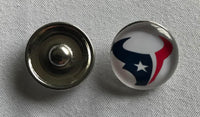 (HCW) Houston Texans NFL Snap Ginger Button Jewelry for Jackets, Bracelets