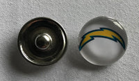 (HCW) Los Angeles Chargers NFL Snap Ginger Button Jewelry for Jackets, Bracelets