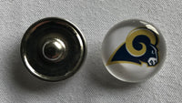 (HCW) Los Angeles Rams NFL Snap Ginger Button Jewelry for Jackets, Bracelets