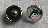 (HCW) Miami Dolphins NFL Snap Ginger Button Jewelry for Jackets, Bracelets