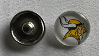 (HCW) Minnesota Vikings NFL Snap Ginger Button Jewelry for Jackets, Bracelets