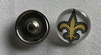 (HCW) New Orleans Saints NFL Snap Ginger Button Jewelry for Jackets, Bracelets