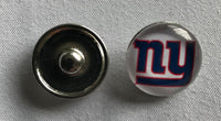 (HCW) New York Giants NFL Snap Ginger Button Jewelry for Jackets, Bracelets