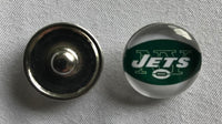 (HCW) New York Jets NFL Snap Ginger Button Jewelry for Jackets, Bracelets