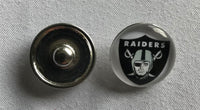 (HCW) Oakland Raiders NFL Snap Ginger Button Jewelry for Jackets, Bracelets