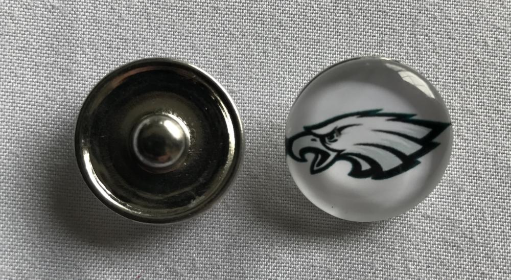 (HCW) Philadelphia Eagles NFL Snap Ginger Button Jewelry for Jackets, Bracelets