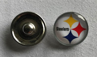 (HCW) Pittsburgh Steelers NFL Snap Ginger Button Jewelry for Jackets, Bracelets