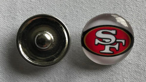 (HCW) San Francisco 49ers NFL Snap Ginger Button Jewelry for Jackets, Bracelets