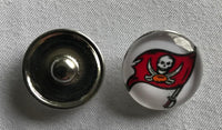 (HCW) Tampa Bay Buccaneers NFL Snap Ginger Button Jewelry for Jackets, Bracelets