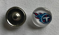 (HCW) Tennessee Titans NFL Snap Ginger Button Jewelry for Jackets, Bracelets
