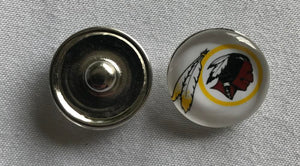 (HCW) Washington Redskins NFL Snap Ginger Button Jewelry for Jackets, Bracelets