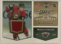 2007-08 Upper Deck MVP One on One Jerseys Marian Gaborik/Milan Hejduk 02983