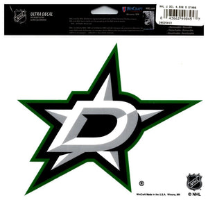 "(HCW) Dallas Stars Multi-Use Coloured Decal Sticker 5""x6"" NHL Licensed"