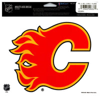 (HCW) Calgary Flames Multi-Use Coloured Decal Sticker 5