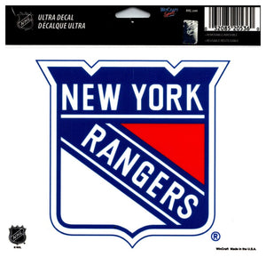 "(HCW) New York Rangers Multi-Use Coloured Decal Sticker 5""x6"" NHL Licensed"