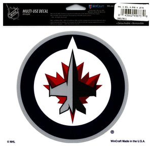 "(HCW) Winnipeg Jets Multi-Use Coloured Decal Sticker 5""x6"" NHL Licensed"