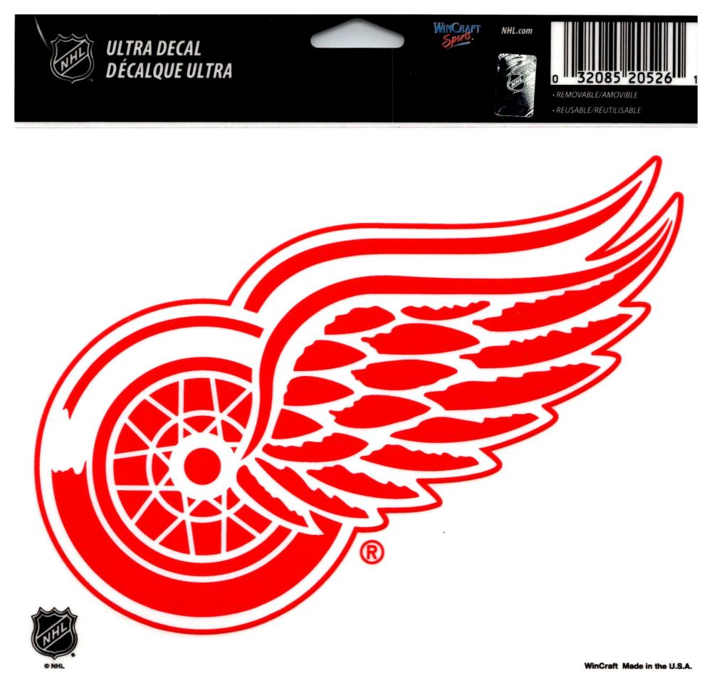 "(HCW) Detroit Red Wings Multi-Use Coloured Decal Sticker 5""x6"" NHL Licensed"