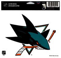 (HCW) San Jose Sharks Multi-Use Coloured Decal Sticker 5