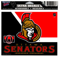 (HCW) Ottawa Senators 2Tone Multi-Use Coloured Decal Sticker 5
