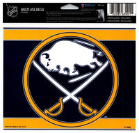 (HCW) Buffalo Sabres Multi-Use Coloured Decal Sticker 5