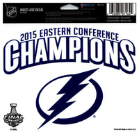 (HCW) Tampa Bay Lightning Champs Multi-Use Coloured Decal Sticker 5