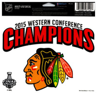 (HCW) Chicago Blackhawks Champs Multi-Use Coloured Decal Sticker 5