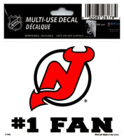 (HCW) New Jersey Devils #1 Fan Coloured Decal Sticker 3