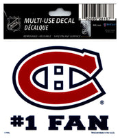(HCW) Montreal Canadiens #1 Fan Coloured Decal Sticker 3