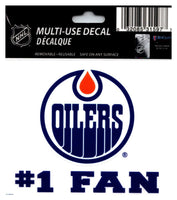 (HCW) Edmonton Oilers #1 Fan Coloured Decal Sticker 3